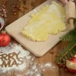 Stock Video: Christmas baking process