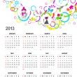 Calendar for 2013 — Stock Vector