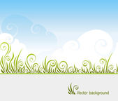 Grass and the sky — Stock Vector