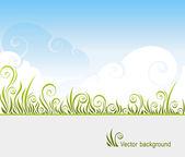 Gras und Himmel — Stockvektor
