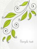 Fondo con hojas y rizos. — Vector de stock