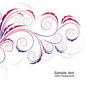 Abstract background with curls. — Stock Vector