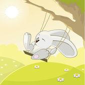 面白いウサギ — ストックベクタ