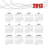 Grid for 2013 — Stock Vector