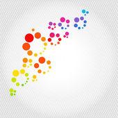 Fondo multicolor con puntos — Vector de stock