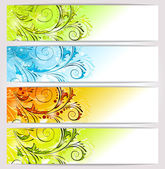 Banners: seasons — Stock Vector