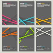 Set of neutral business cards — Stock vektor