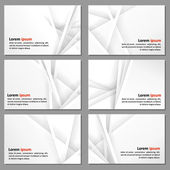 Business cards with a neutral background — Stok Vektör