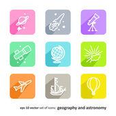 Geografia e astronomia — Vettoriale Stock