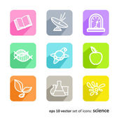 Science. Set of abstract pictures. — Stock Vector
