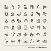 Bathroom — Stock Vector