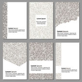 Set of neutral business cards — Cтоковый вектор