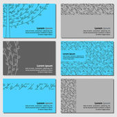 Set of neutral business cards — Stock Vector