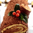 Christmas log — Stock Photo