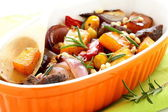 Pumpkin baked with beef and vegetables. — Stock Photo