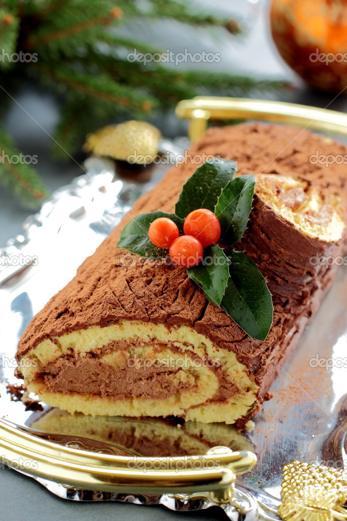 Christmas log — Stock Photo #13659599