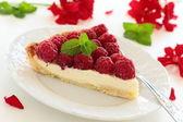Raspberry Tart. — Stock Photo