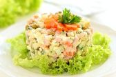 Salad Olivier. — Stock Photo