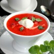 Strawberry soup. — Stock Photo