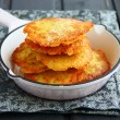 Stock Photo: Ukrainian traditional dish, potato pancakes.