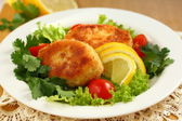Fish cutlets — Stock Photo