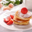 Pancakes with strawberries. — Stock Photo #17652249