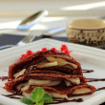 Chocolate pancakes. — Stock Photo #19262743