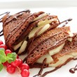 Chocolate pancakes. — Stock Photo