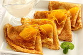 "Pancakes ""Crepe suzette"". — Stock Photo"