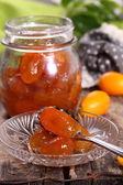Jam of kumquat. — Stock Photo