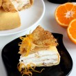 Pancake pie Crepe suzette. — Stock Photo
