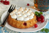 Cake with pie took place and currants. — Stock Photo