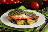 Salmon with pistachios. — Stock Photo