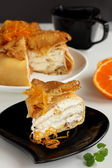 "Pancake pie ""Crepe suzette"". — Stock Photo"