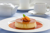 Creme caramel. — Stock Photo