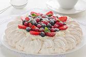 "Cake ""Pavlova"". — Stock Photo"