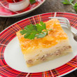 Potato gratin with cheese and meat. — Stock Photo #30249509