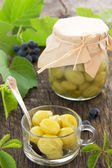 Jam made from green grapes. Selective focus. — Stock Photo