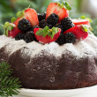 Chocolate cake with berries. — Stock Photo #31037019