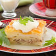 Potato gratin with cheese and meat. — Stock Photo #31037187
