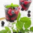 Champagne jelly with berries. — Stock Photo #31038117