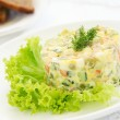 Russian traditional salad olivier — Stock Photo #31039005