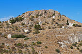 Collina di palaiohora presso l'isola di egina in grecia — Foto Stock