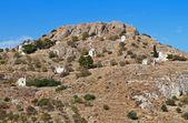 Palaiohora hill at Aegina island in Greece — Stock fotografie