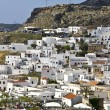Lindos traditional Greek village at Rhodes island — Stock Photo #12751663