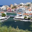 Aghios Nikolaos city at Crete island in Greece — Stock Photo