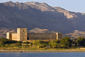 Fragokastelo 城堡在克里特岛的希腊小岛 — 图库照片