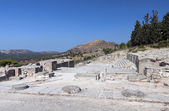 Ancient palace of Phaestos at Crete island in Greece — Stock Photo