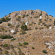 Palaiohora hill at Aegina island in Greece — Stock Photo