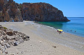 """Agiofarago"" gorge and beach at Crete island in Greece — Zdjęcie stockowe"